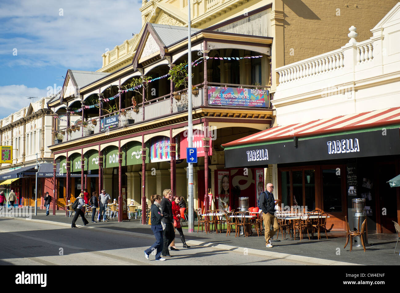 South Terrace in Fremantle in Western Australia - Stock Image