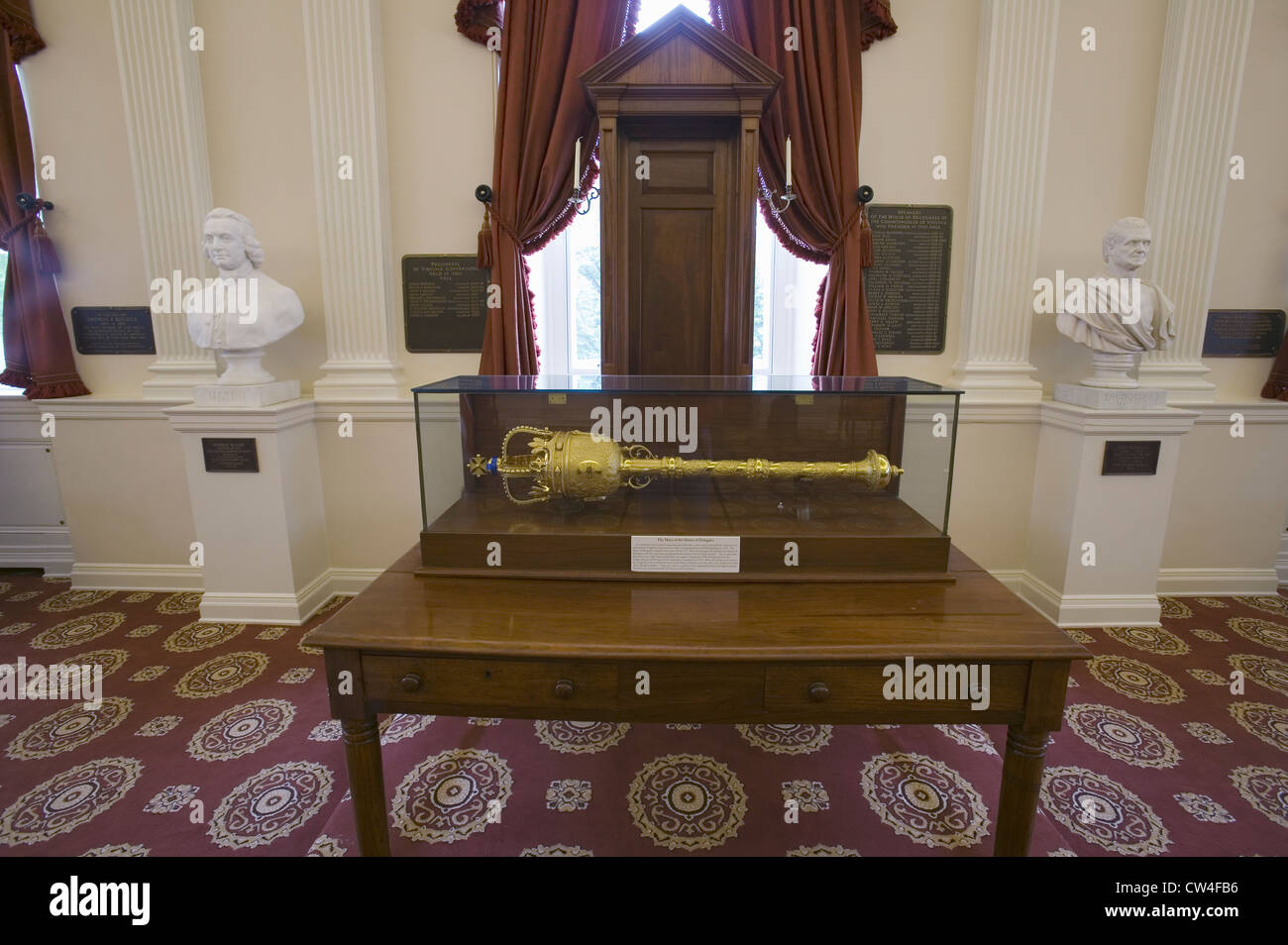 Original Speakers Chair From House Burgesses In Old Hall House Delegates  Room Where Bill Rights Was