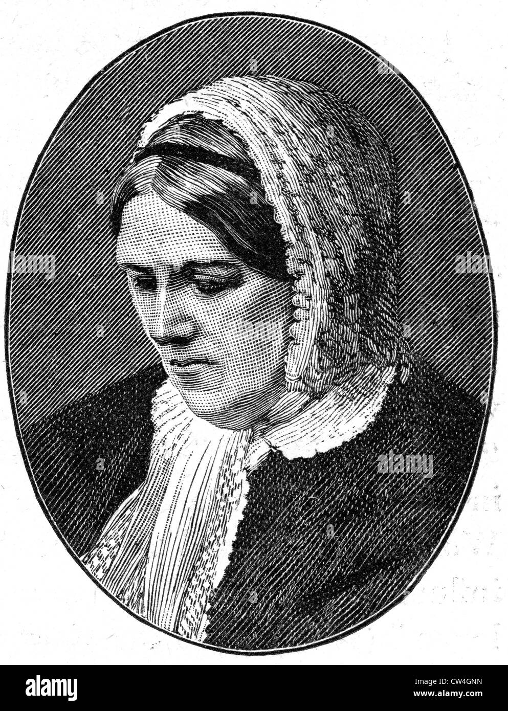 HARRIET MARTINEAU (1802-1876) English social theorist and writer - Stock Image