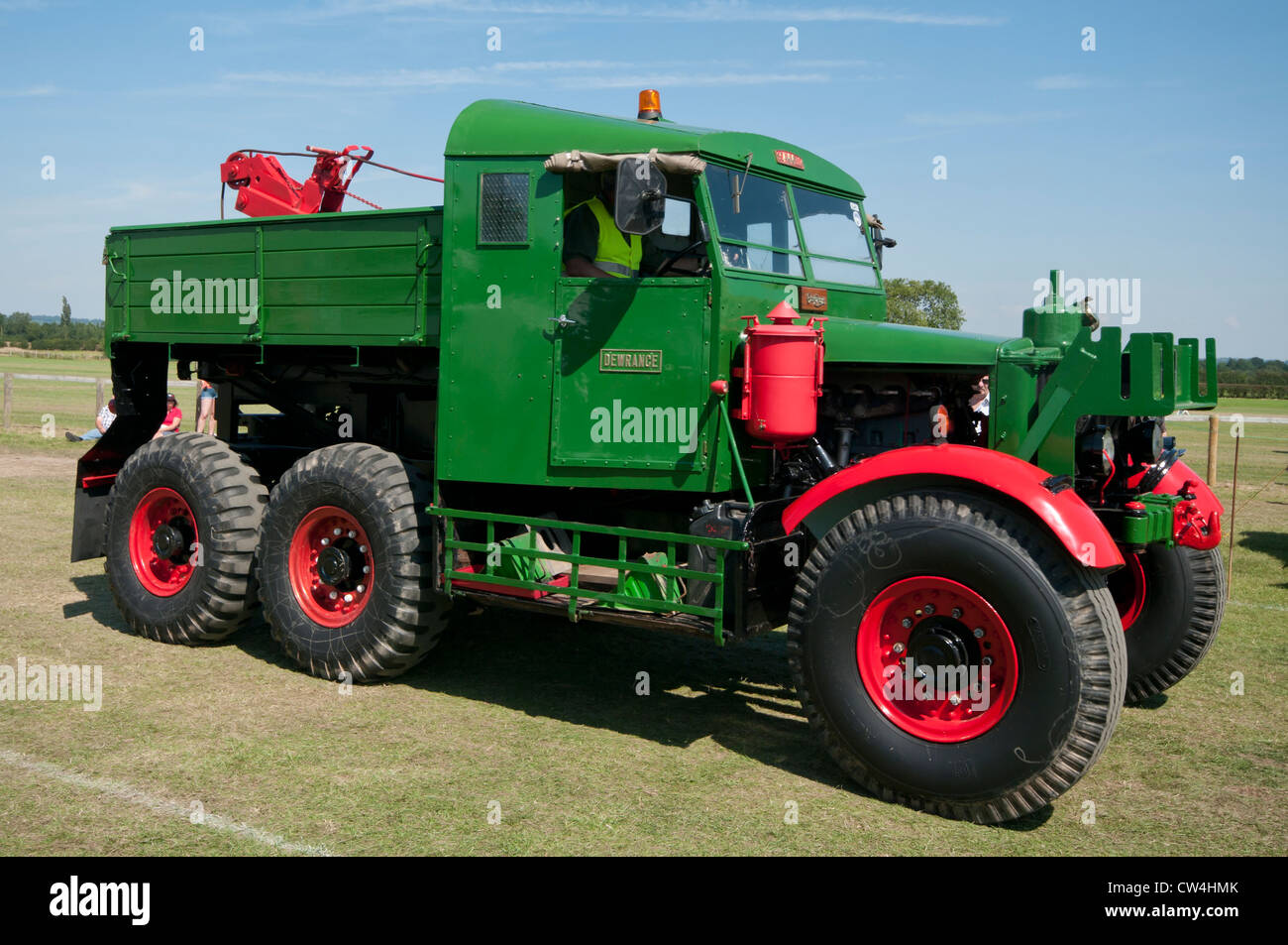 1945 Scammell Pioneer SU125 Dewrance Heavy Haulage Lorry Truck - Stock Image