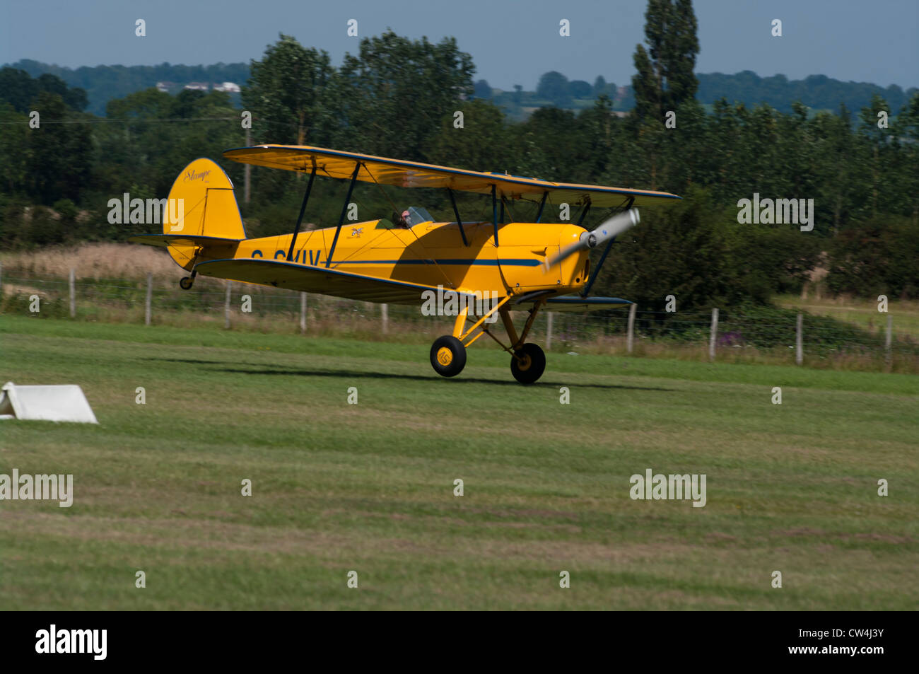 The Stampe Biplane Bi Plane UK Stock Photo