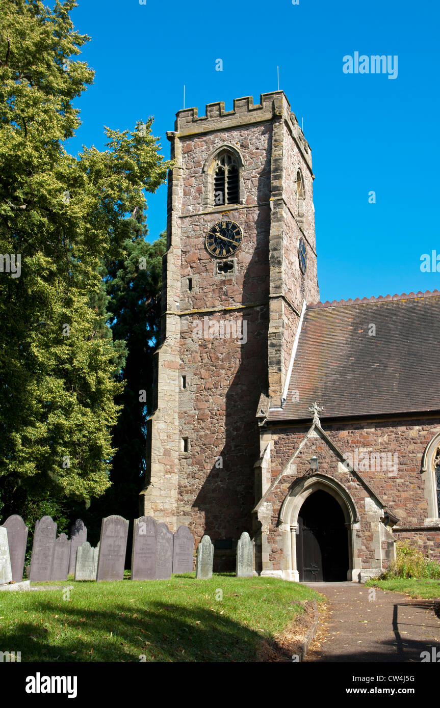 St. Michael and All Angels Church, Croft, Leicestershire, UK - Stock Image