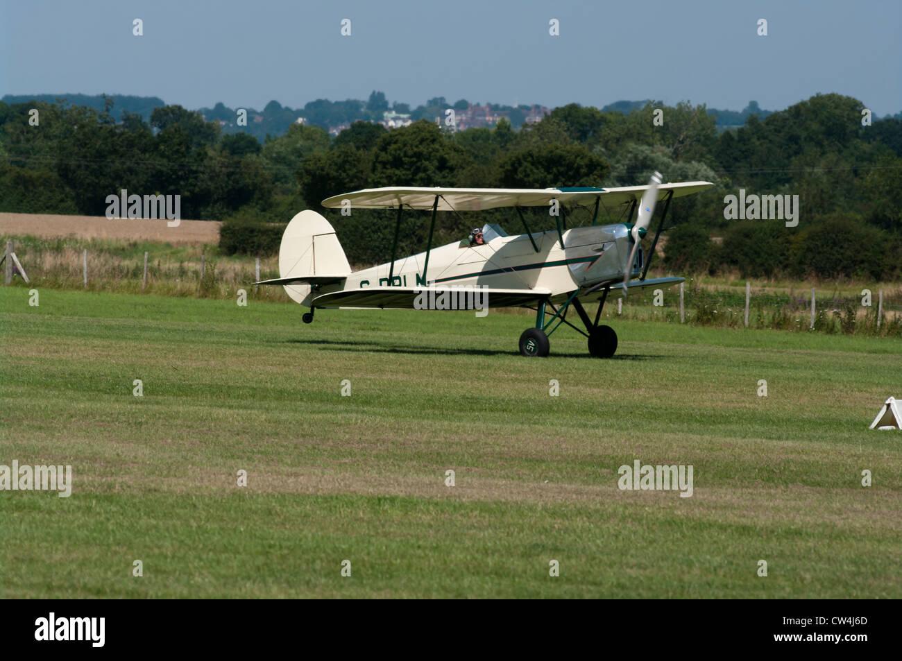 The Stampe Biplane Bi Plane UK - Stock Image