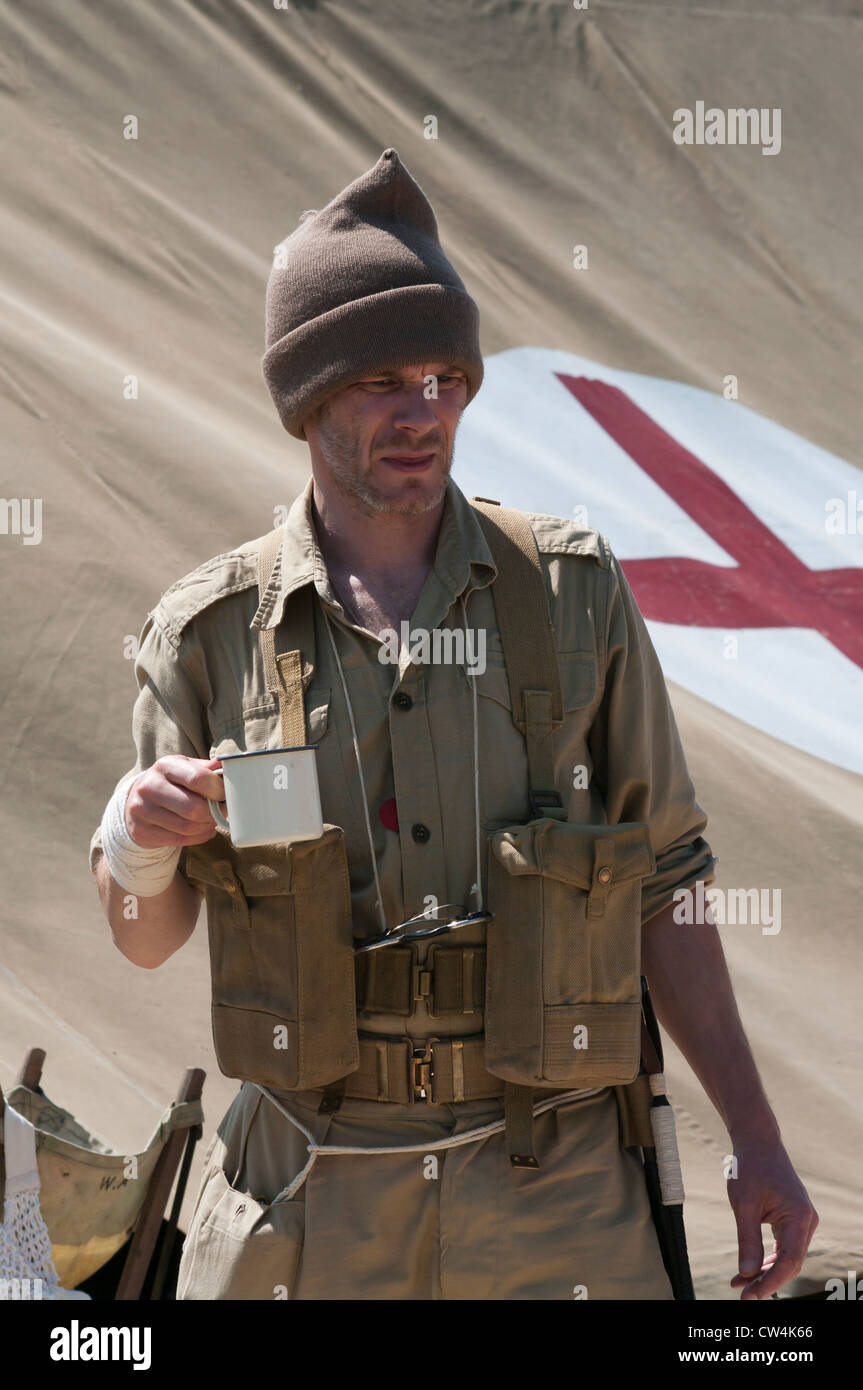 British Army Desert Rat Soldier - Stock Image