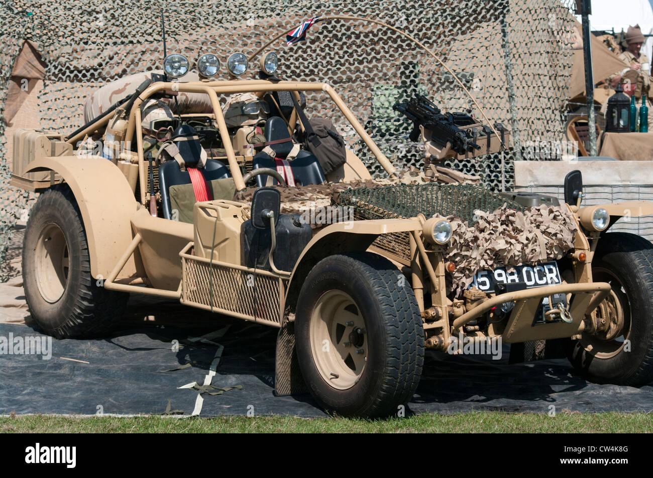 British Army Desert Patrol Vehicle Stock Photo