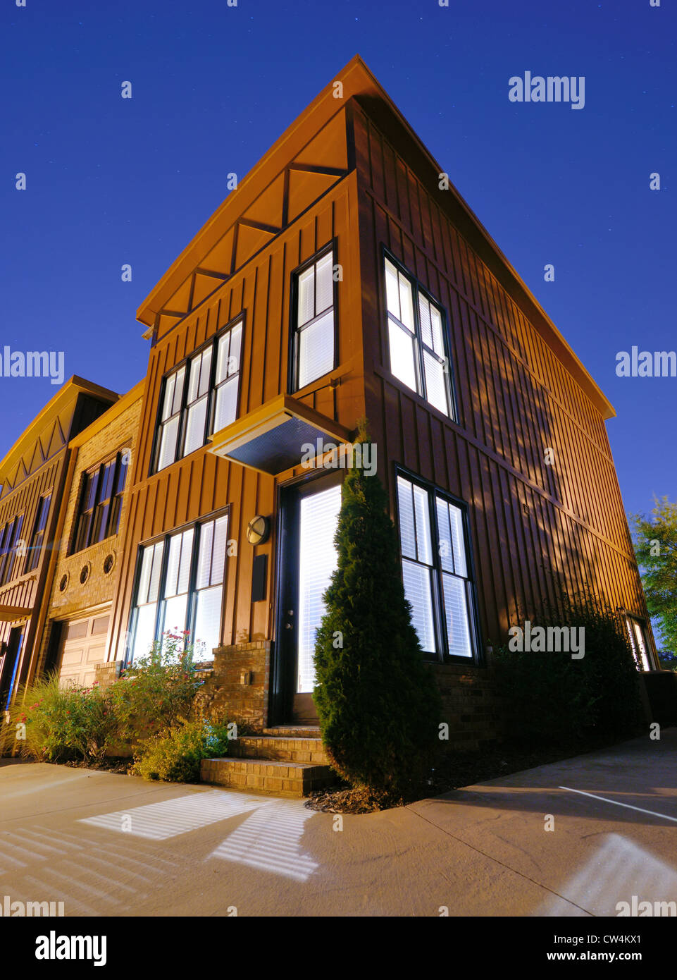 loft apartment buildings - Stock Image