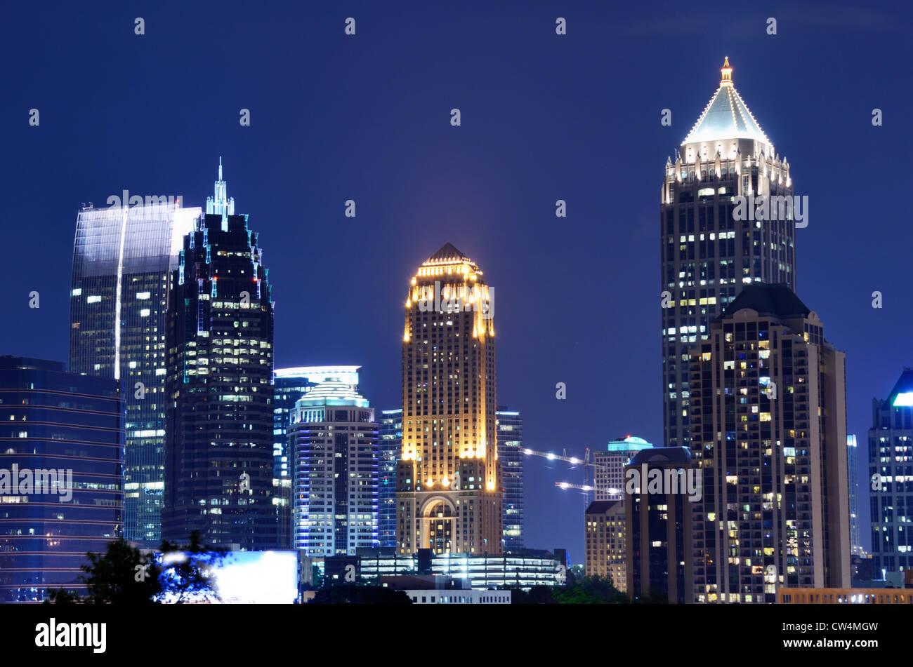 Skyline of Midtown Atlanta, Georgia, USA. - Stock Image