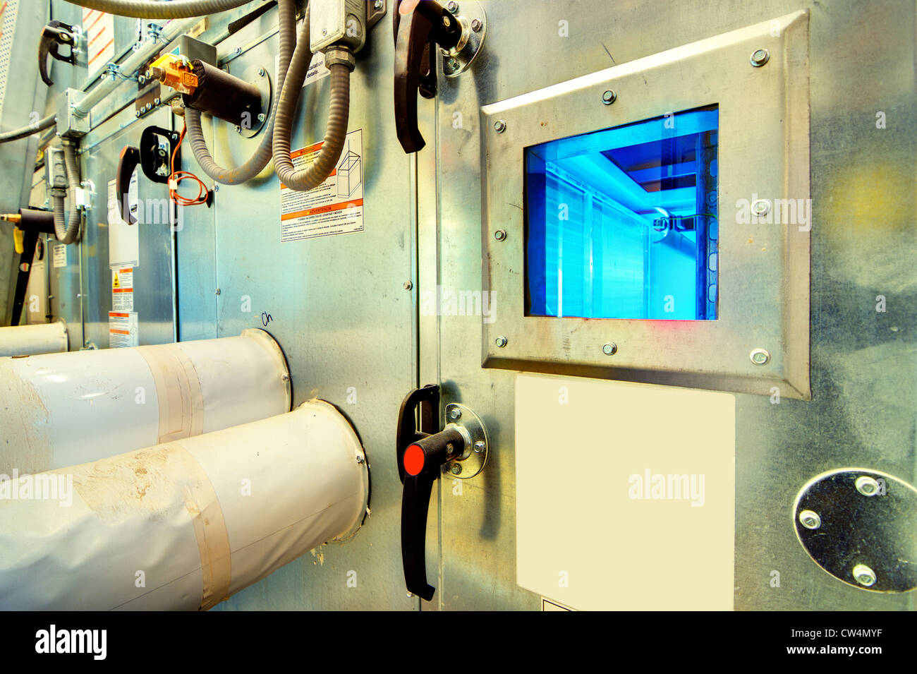 UV light filter in a cooling unit - Stock Image