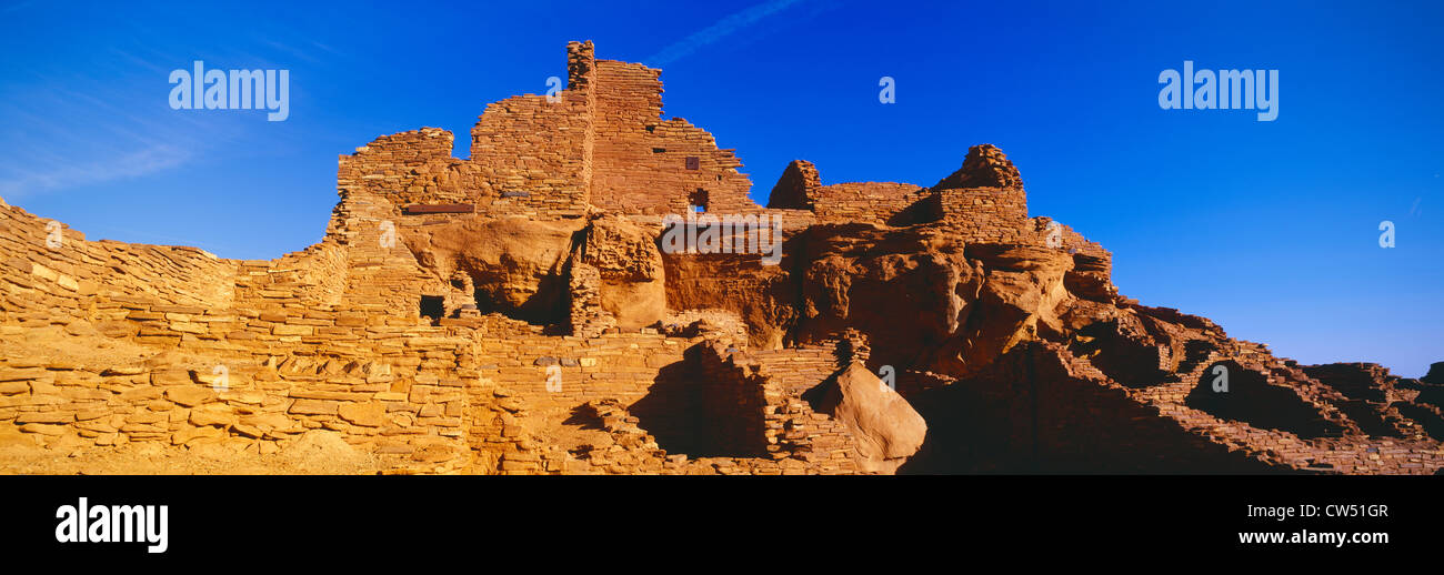 Ruins of 900 year old Hopi village, Wupatki National Monument, Arizona - Stock Image