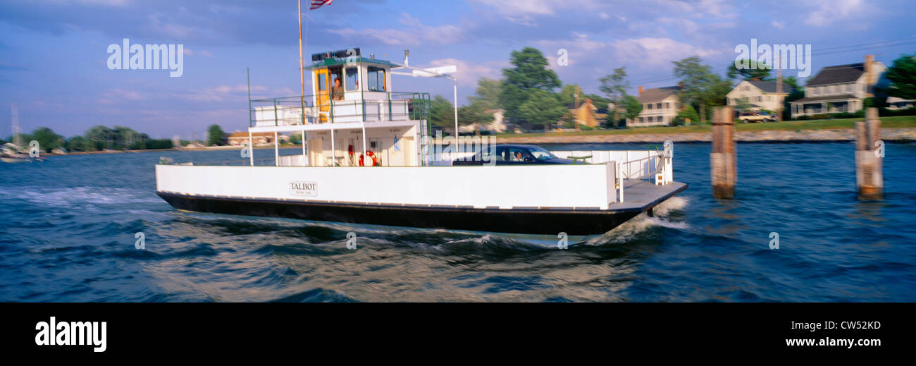 Oxford to Bellevue Ferry, continuous use from 1683 to 1836, Maryland - Stock Image