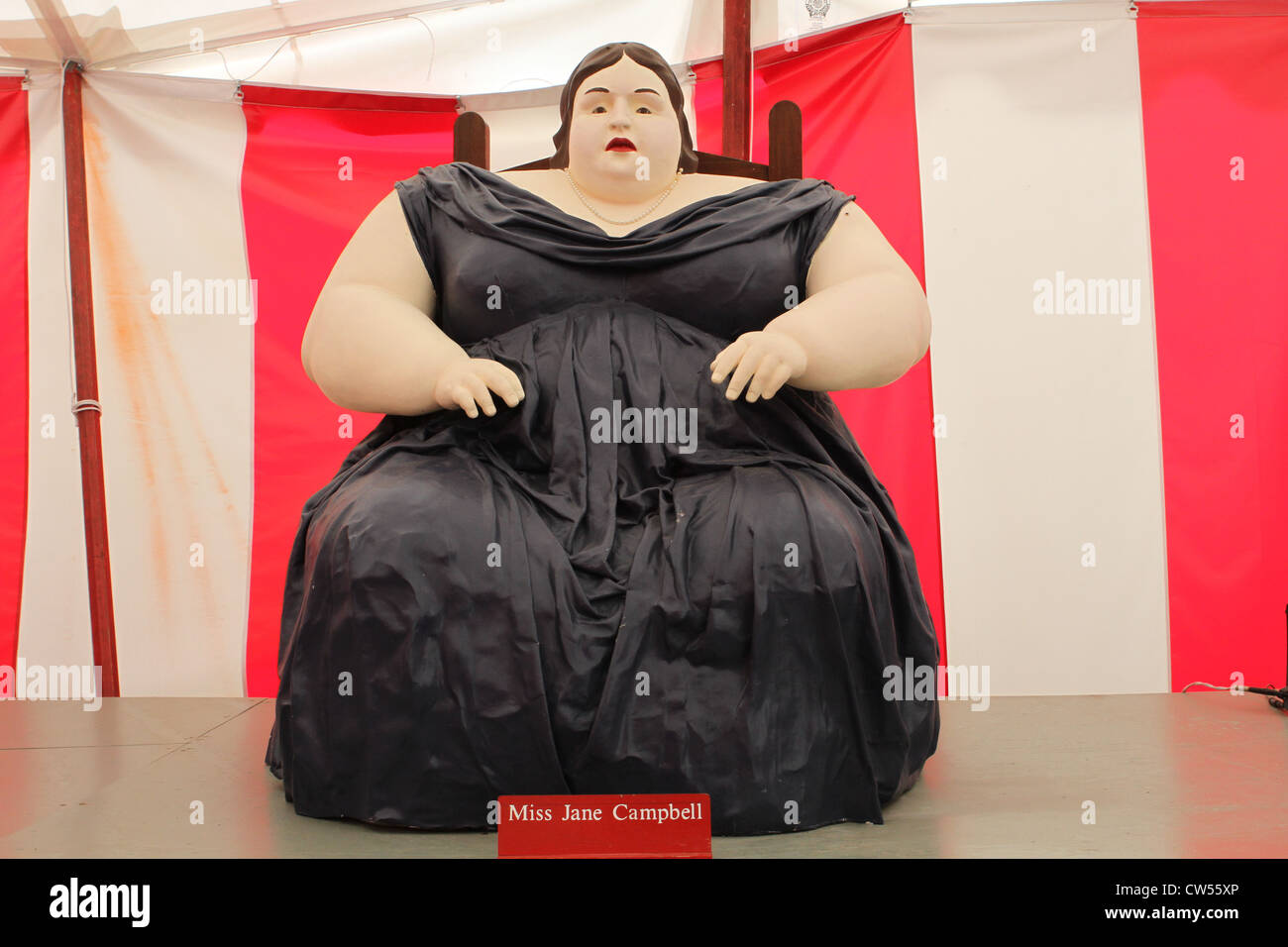 A Statue Of Miss Jane Campbell  The Fat Lady  A Circus