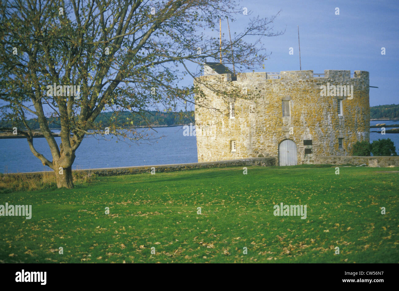 Fort William Henry in New Harbor, MN - Stock Image