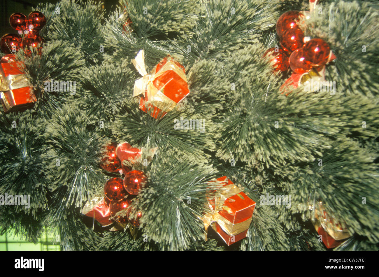 christmas decorations on tree marshall fields department store chicago illinois stock image - Christmas Decoration Stores Chicago