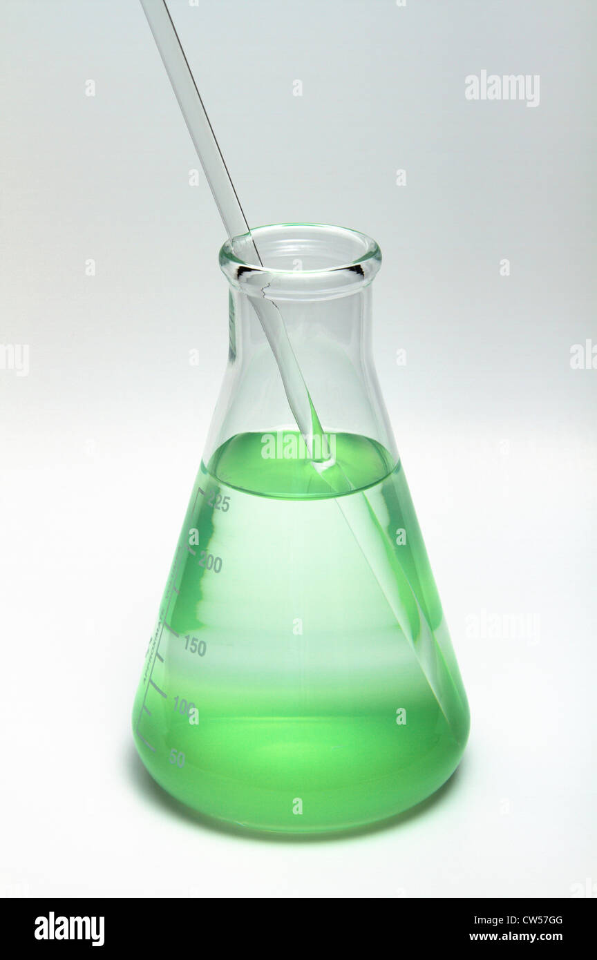 Erlenmeyer flask - Stock Image
