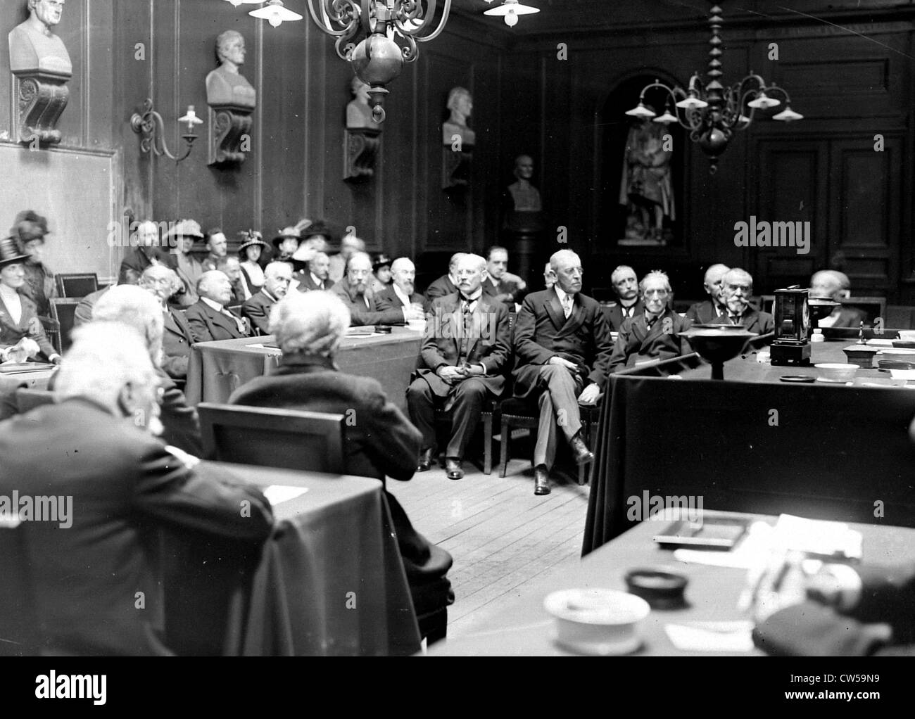 Paris. President Wilson is received by the Academy of Moral Sciences - Stock Image