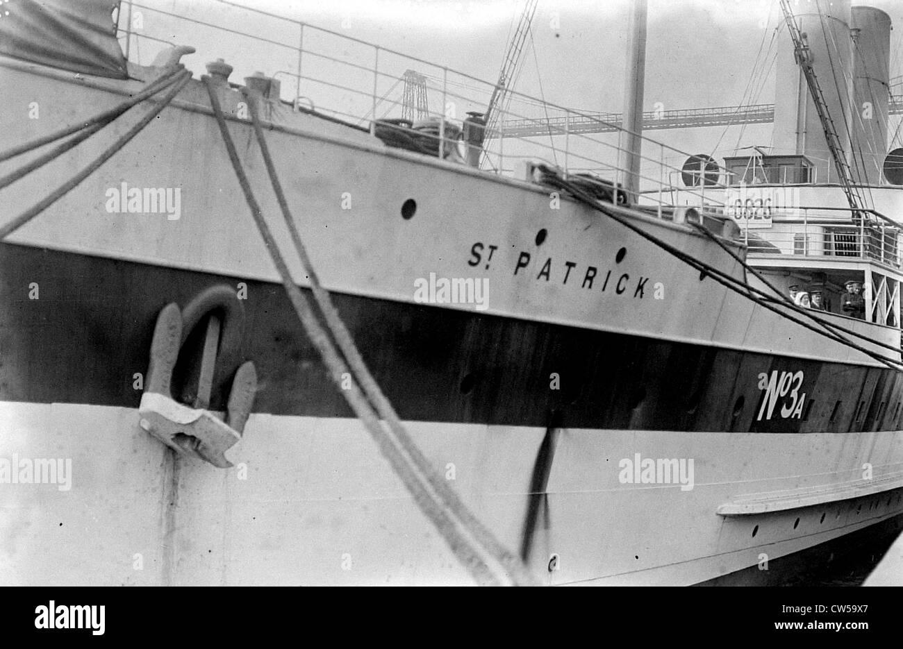 "Rouen, English hospital ship ""St-Patrick"" Stock Photo"