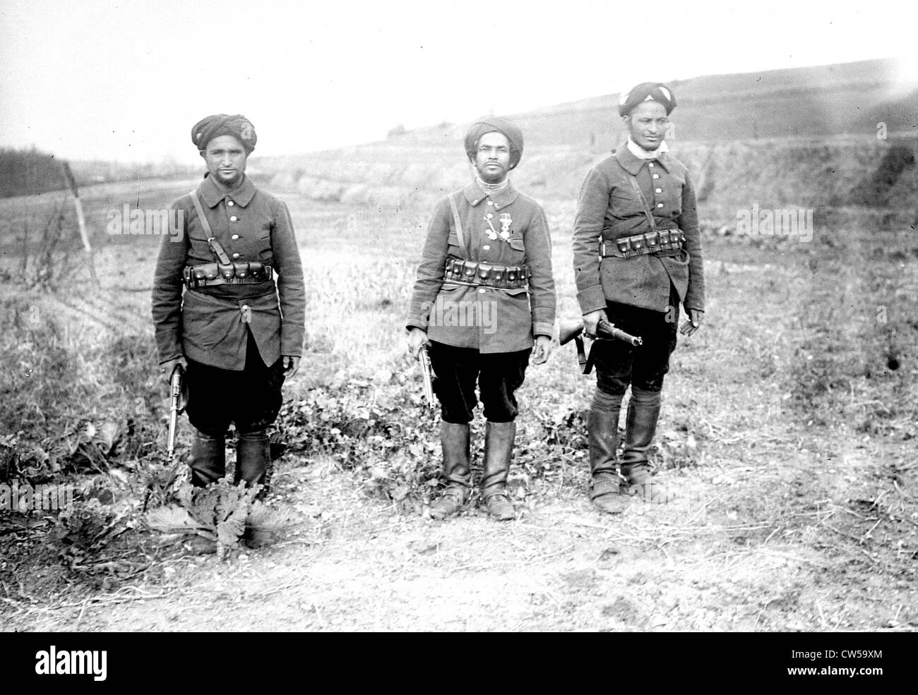 New uniform of the Moroccan cavalry corps in the French army in North Africa - Stock Image