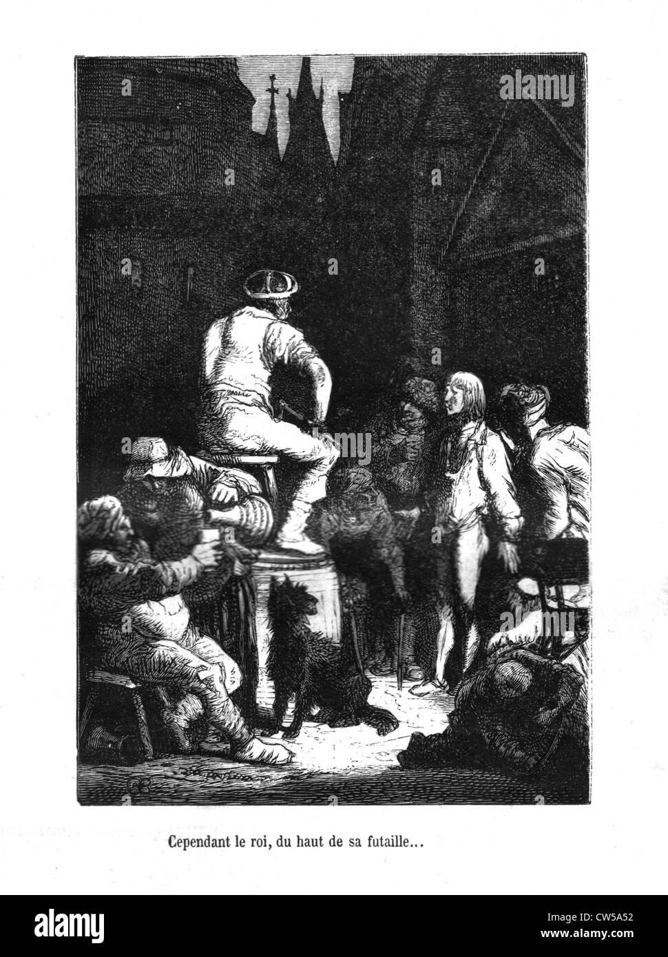 Brion, Scene from 'Notre-Dame de Paris' - Stock Image