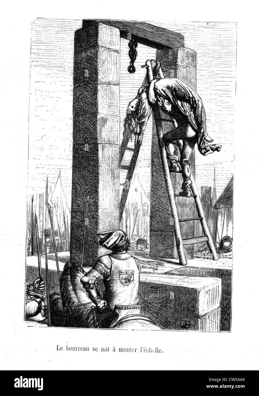 """Brion, Scene from """"Notre-Dame de Paris"""" Stock Photo"""