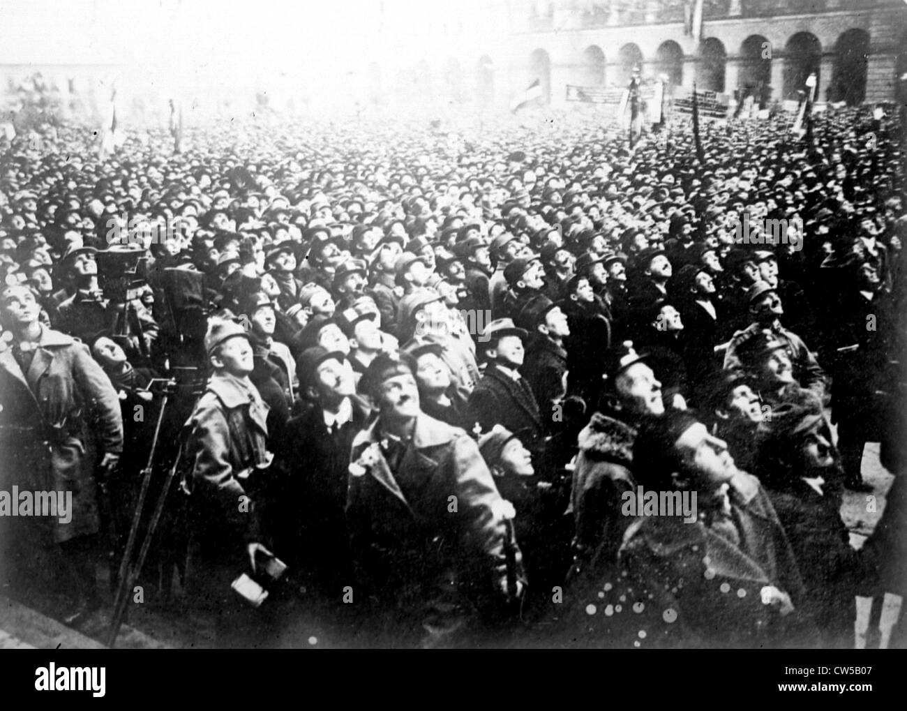 Budapest, Revolutionary demonstration, 1919 - Stock Image