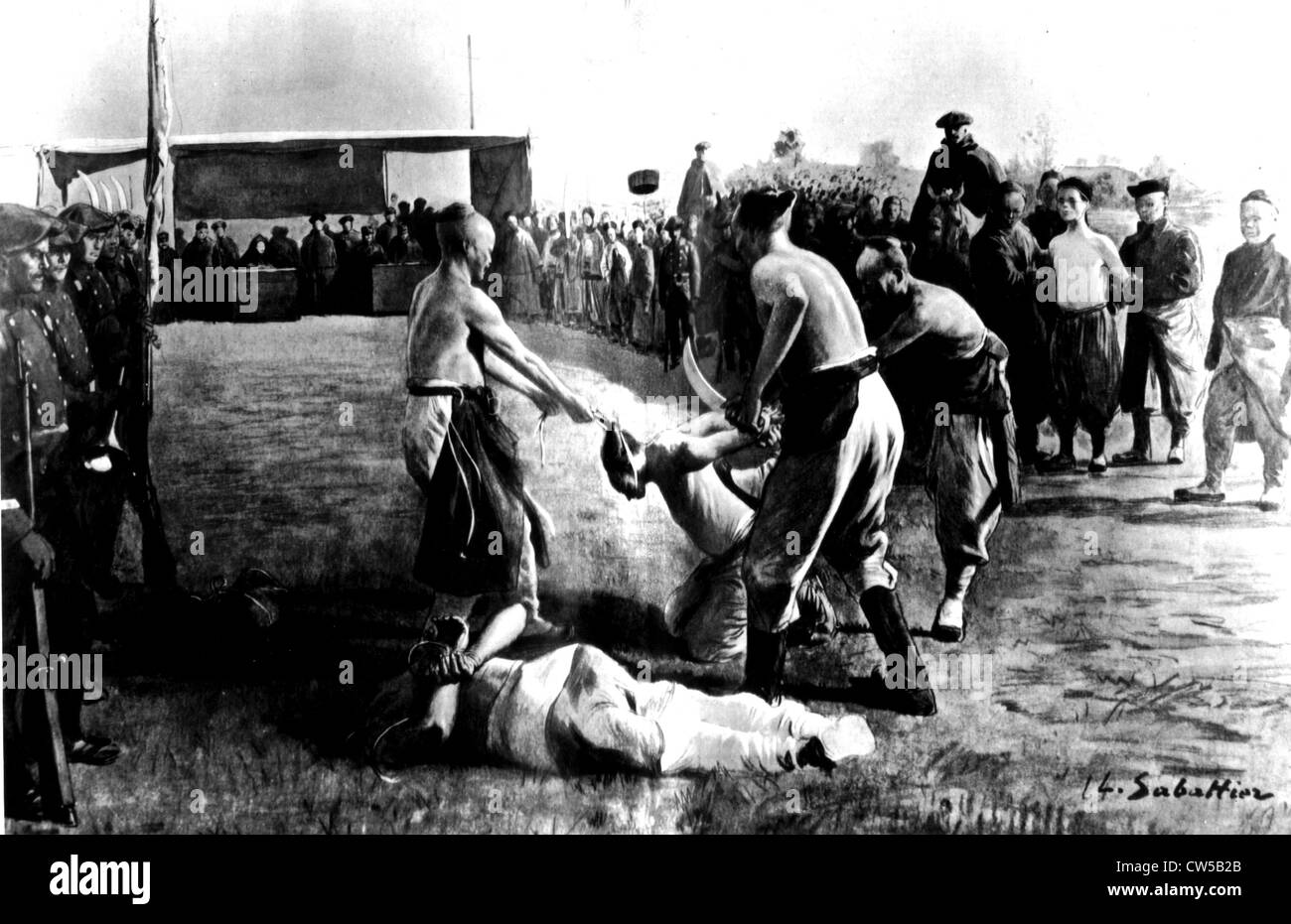 Execution of the Boxer leaders - Stock Image