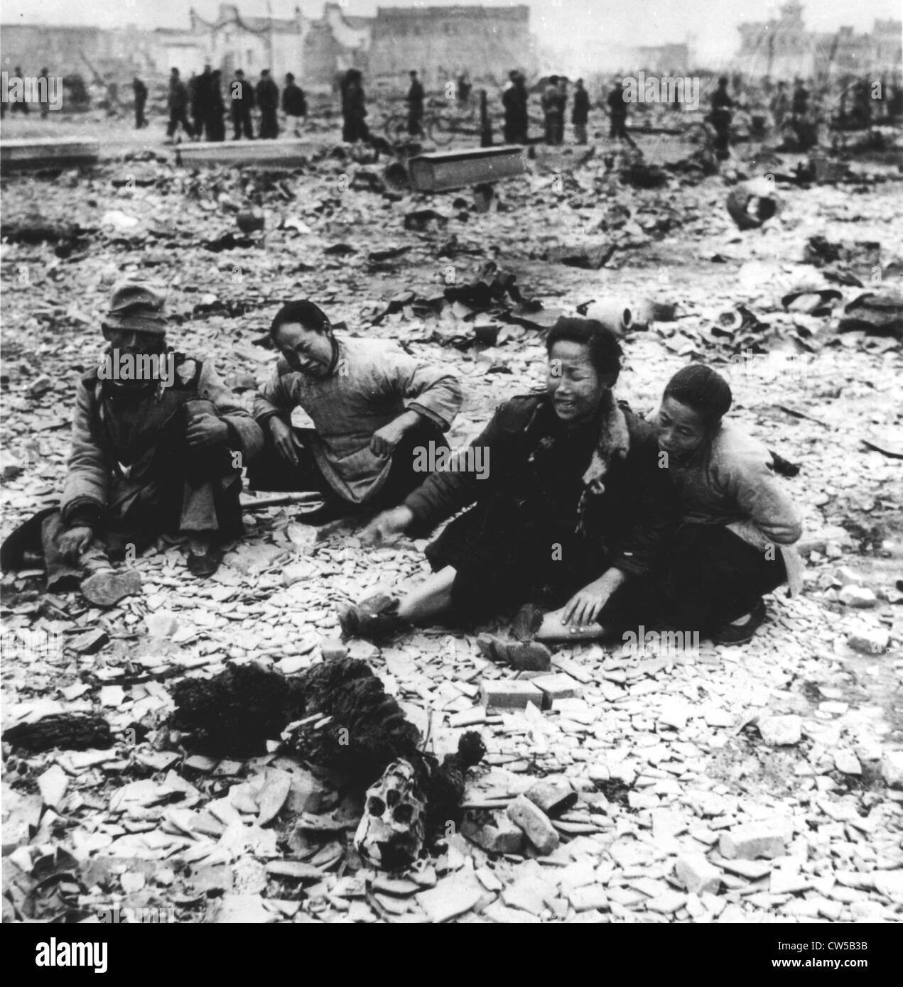 China, Sino-Japanese War, massacre of civilian populations - Stock Image