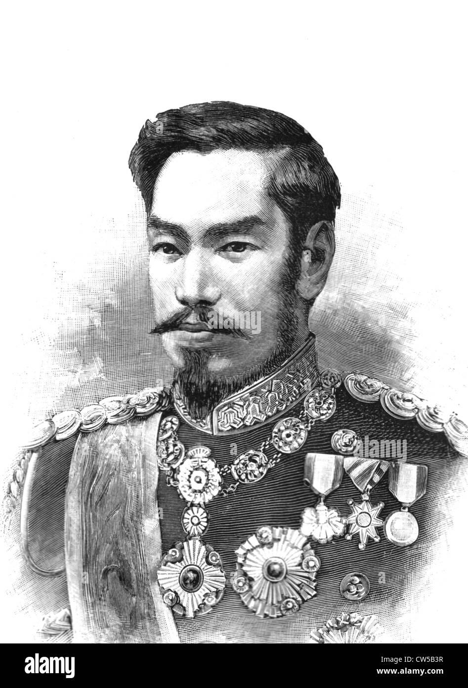 Japanese Emperor Mutsuhito Stock Photo