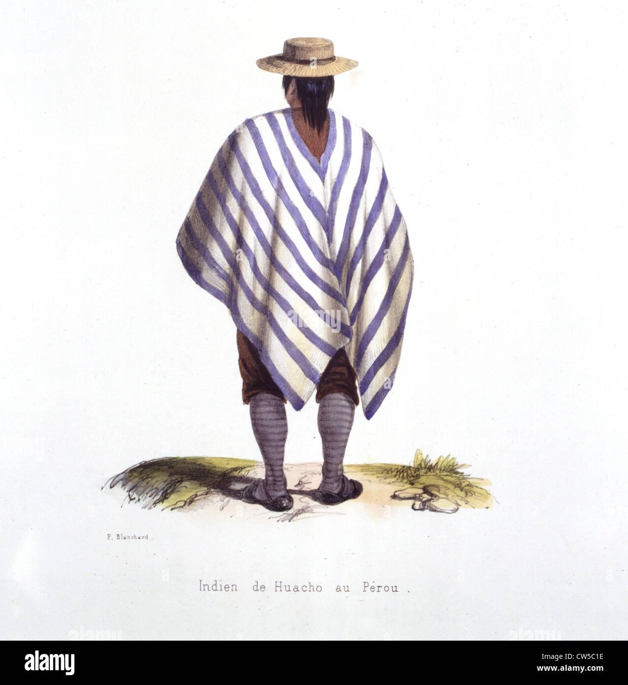 Blanchard, Huache Indian in Peru Stock Photo