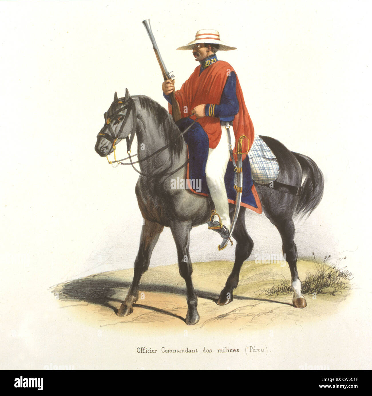 Blanchard, Commanding officer of the Militia - Stock Image