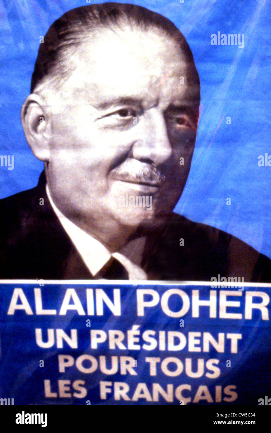 Electoral propaganda poster for Alain Poher Stock Photo