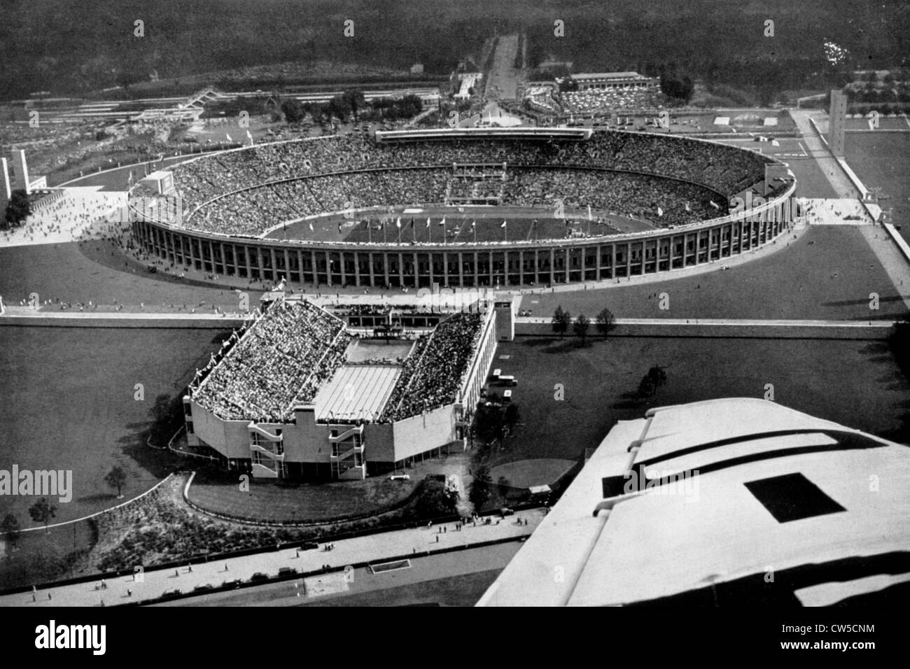 Berlin Olympic games, the olympic stadium - Stock Image