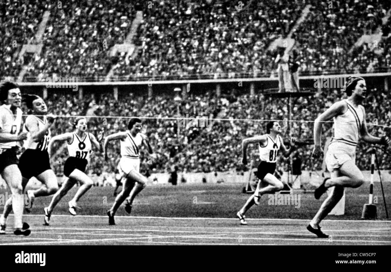 Berlin Olympic Games, Helen Stephens - Stock Image
