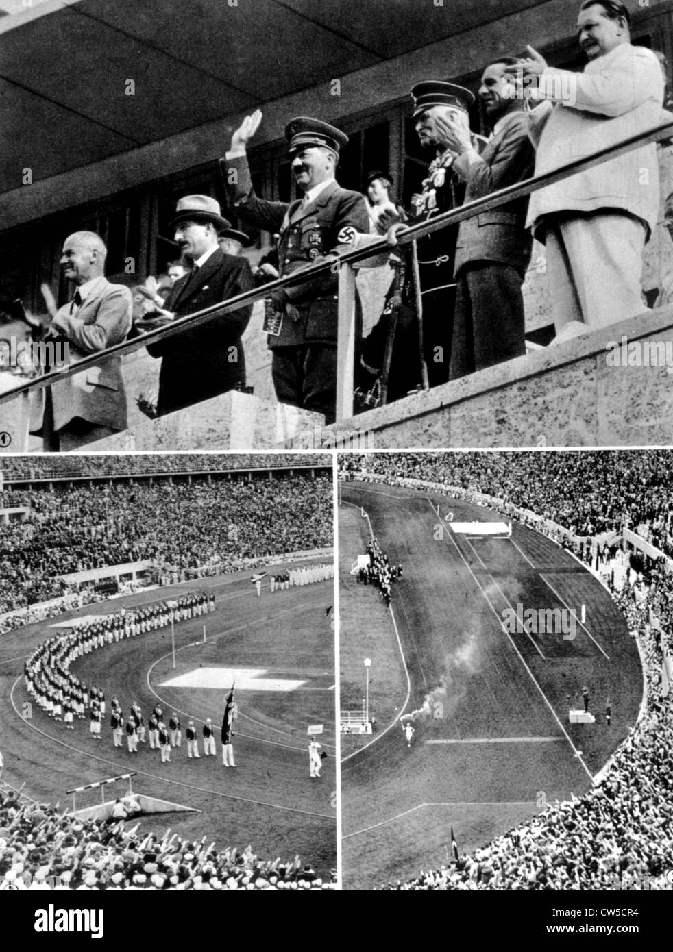 Berlin Olympic Games, the opening ceremony at the stadium - Stock Image