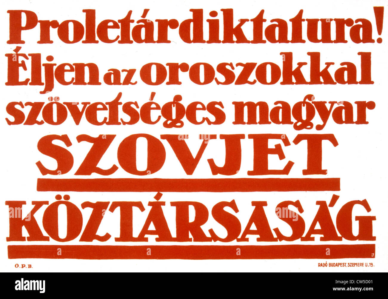 Propaganda poster by Erno JEGES (1898-1956) 1919 Hungarian revolution - Stock Image