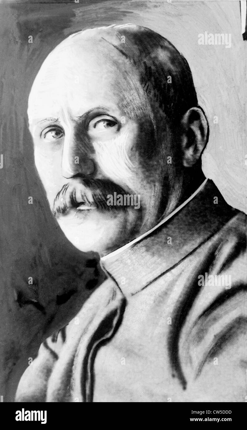 Portrait of General Pétain - Stock Image