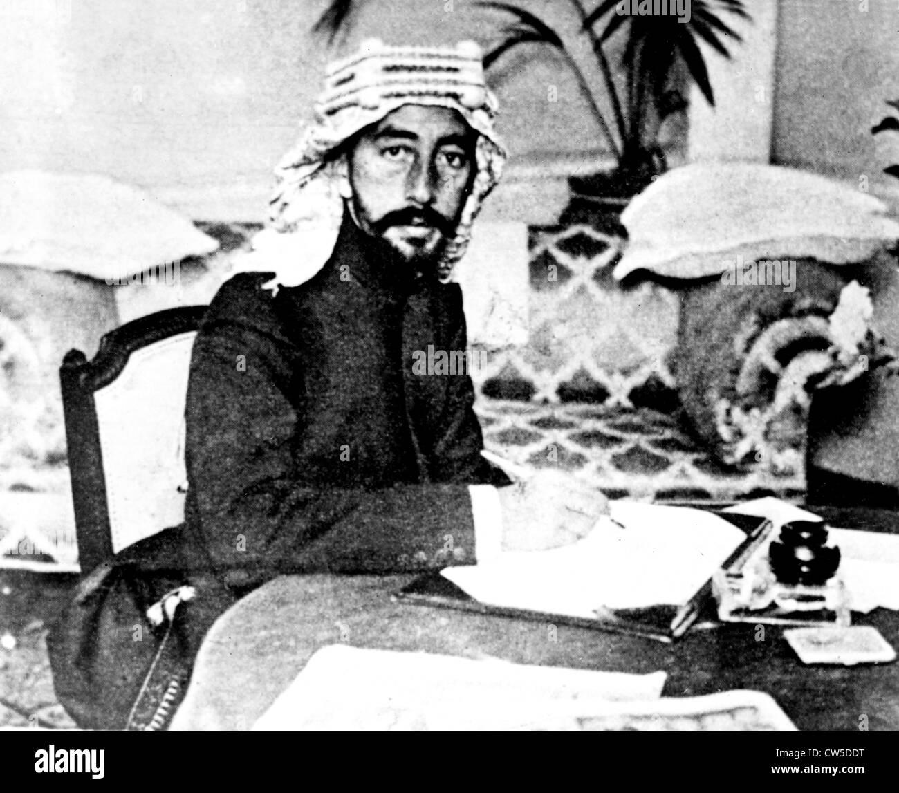 Portrait of King Faysal I (1883-1933) - Stock Image