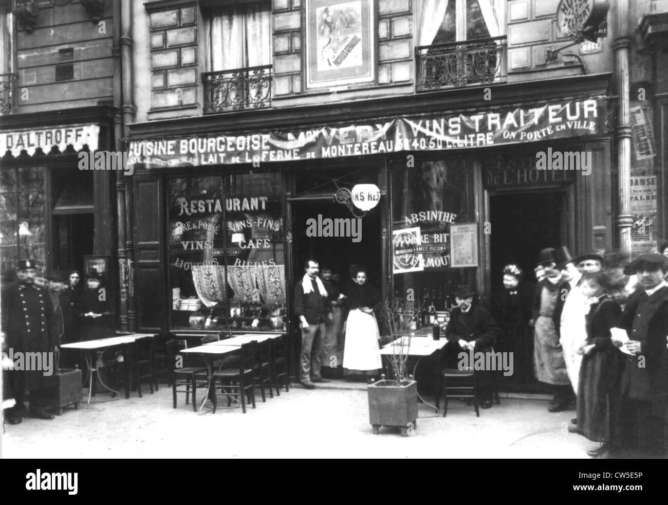Ravachol affair. Restaurant Very, located 22, boulevard Magenta in Paris (before the explosion of April 22, 1892) - Stock Image