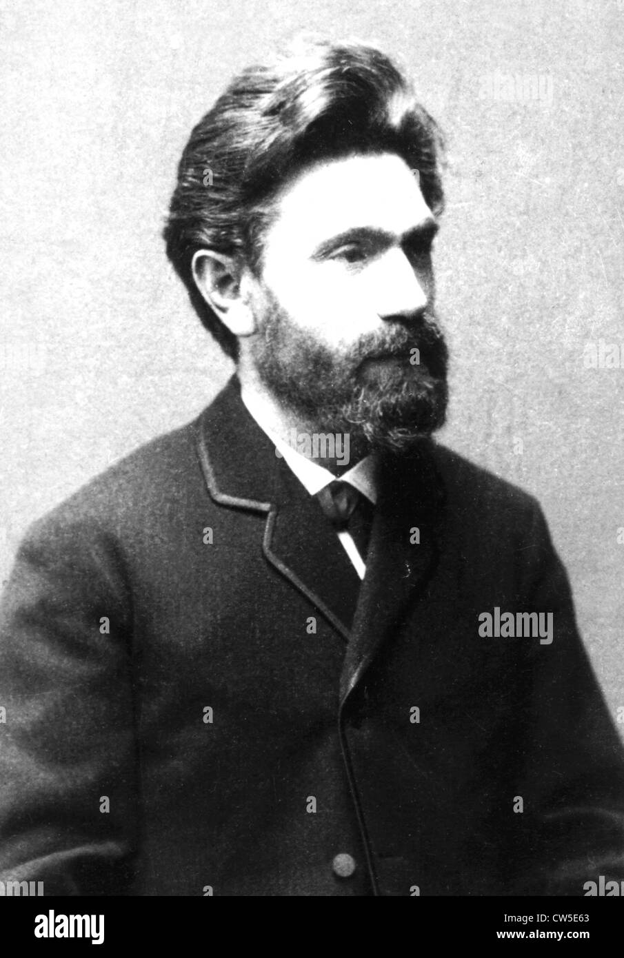Auguste Bebel (1840-1913), German politician. One of the founders of the Social Democratic Party - Stock Image