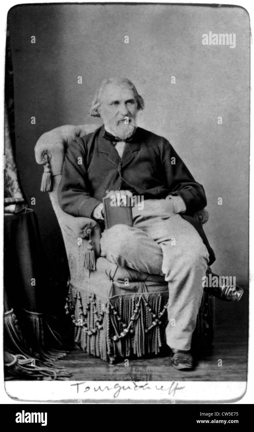 Ivan S. Turgueniev (1818-1883), Russian writer - Stock Image