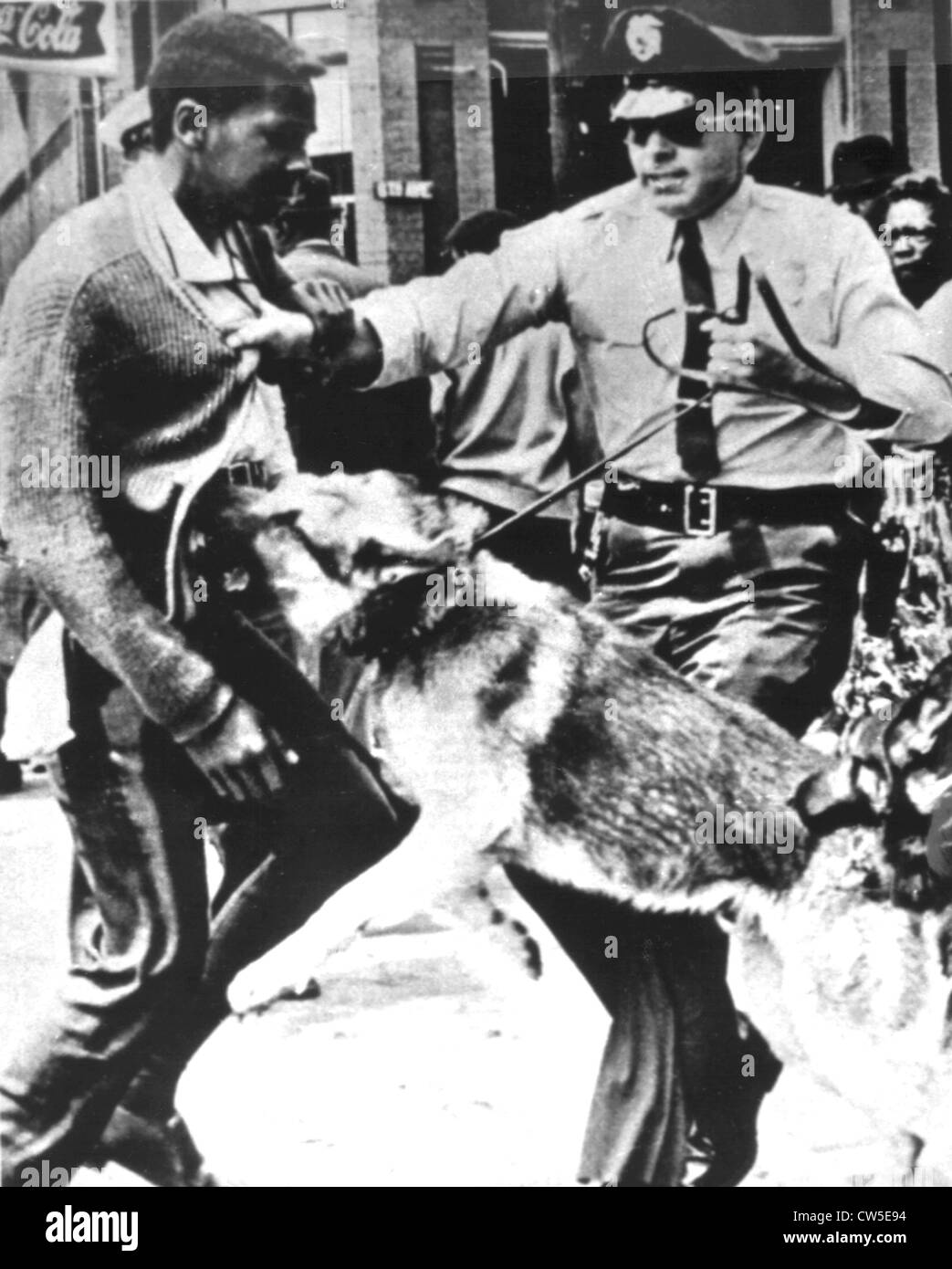 Demonstration for the civil rights in Montgomery, police repression - Stock Image