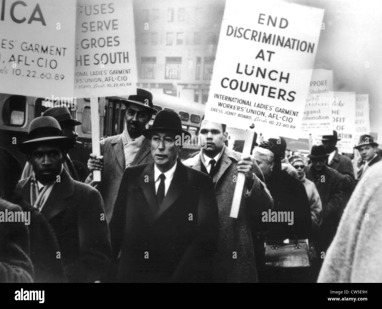 Demonstration for the civil rights - Stock Image