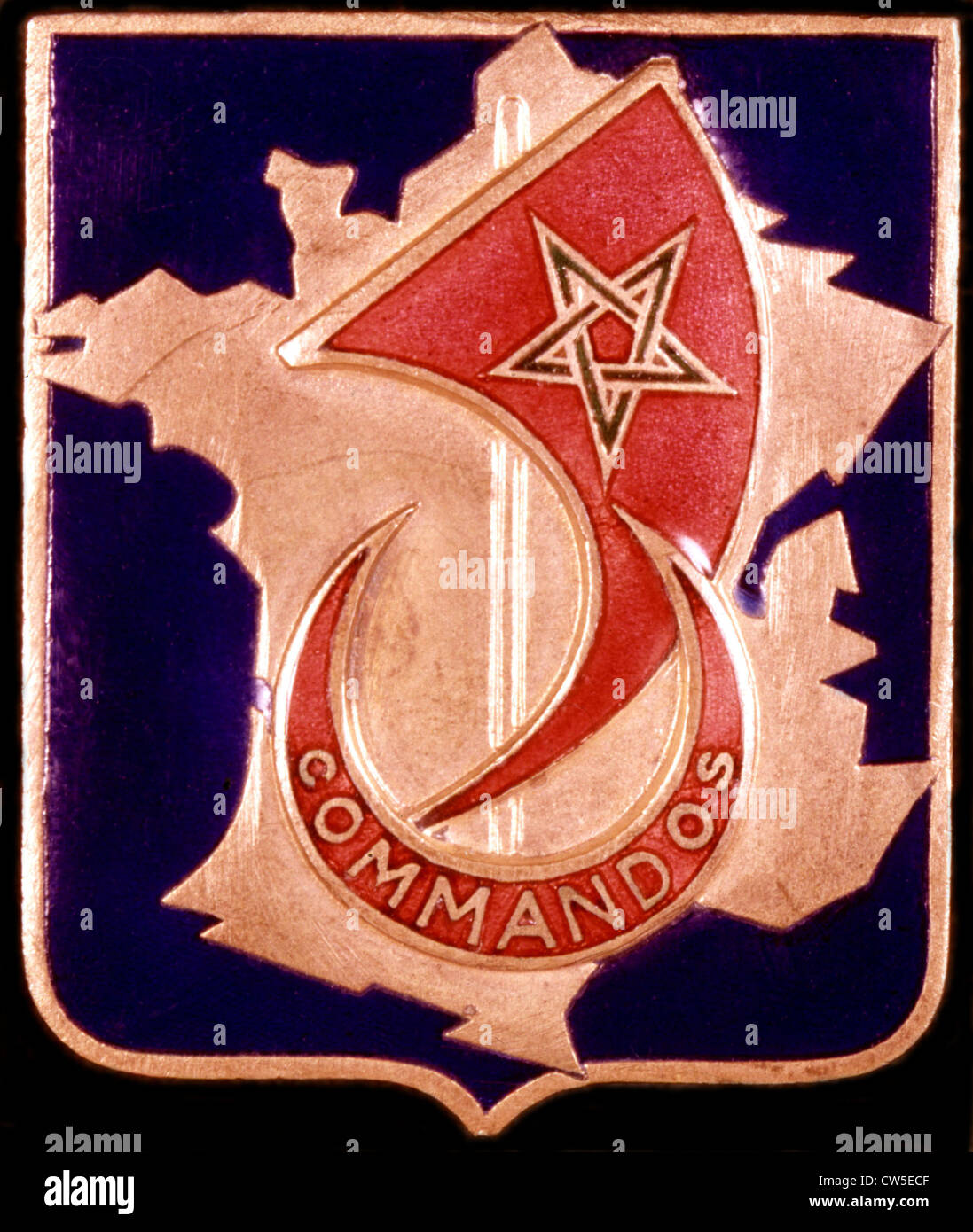 World War II. Insignia of the Africa commandos - Stock Image