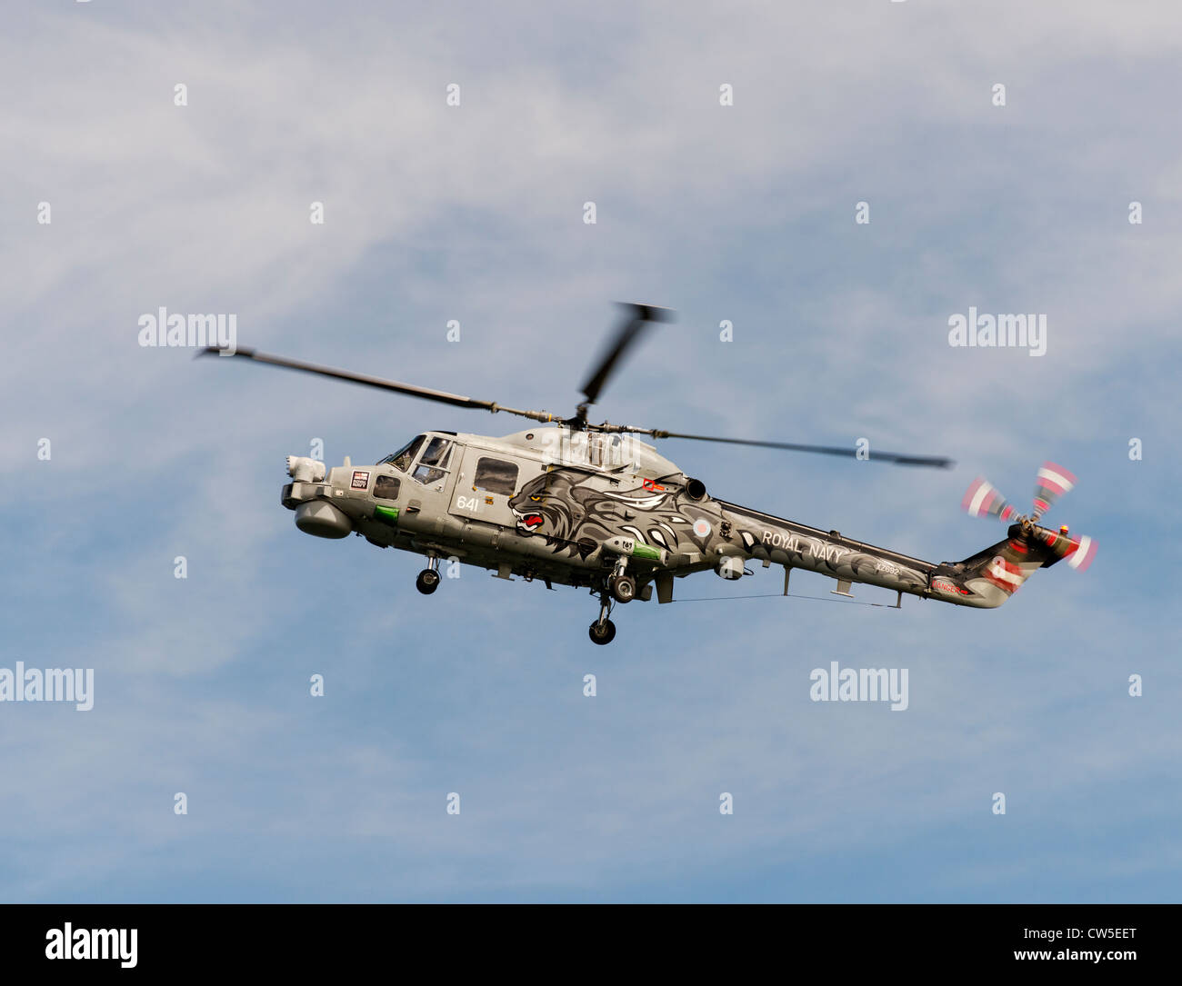 Lynx maritime attack helicopter - Stock Image