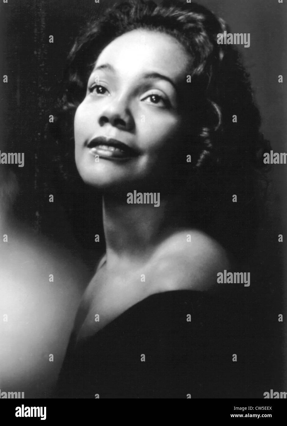 Coretta Scott King, Martin Luther King's wife - Stock Image