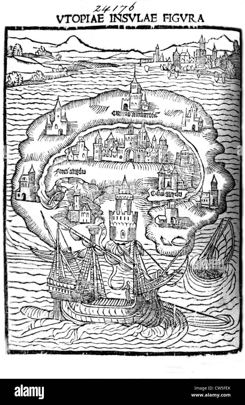 Utopia (written in 1516), photograph by Pierre Pitrou - Stock Image