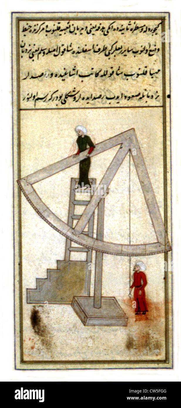 Treaty of astronomy by Taqi Ed-Din - Stock Image