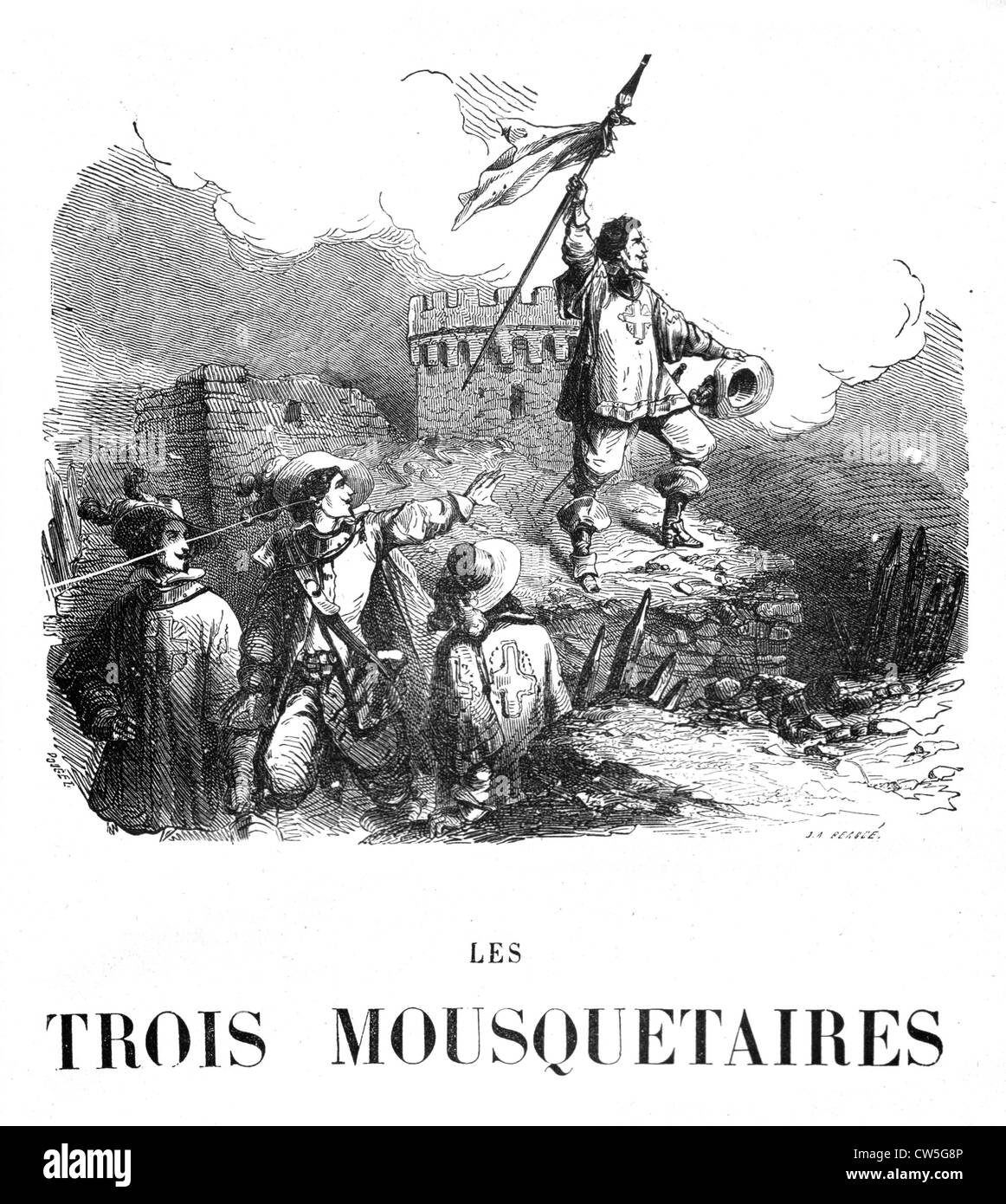 The Three Musketeers, Frontispiece - Stock Image