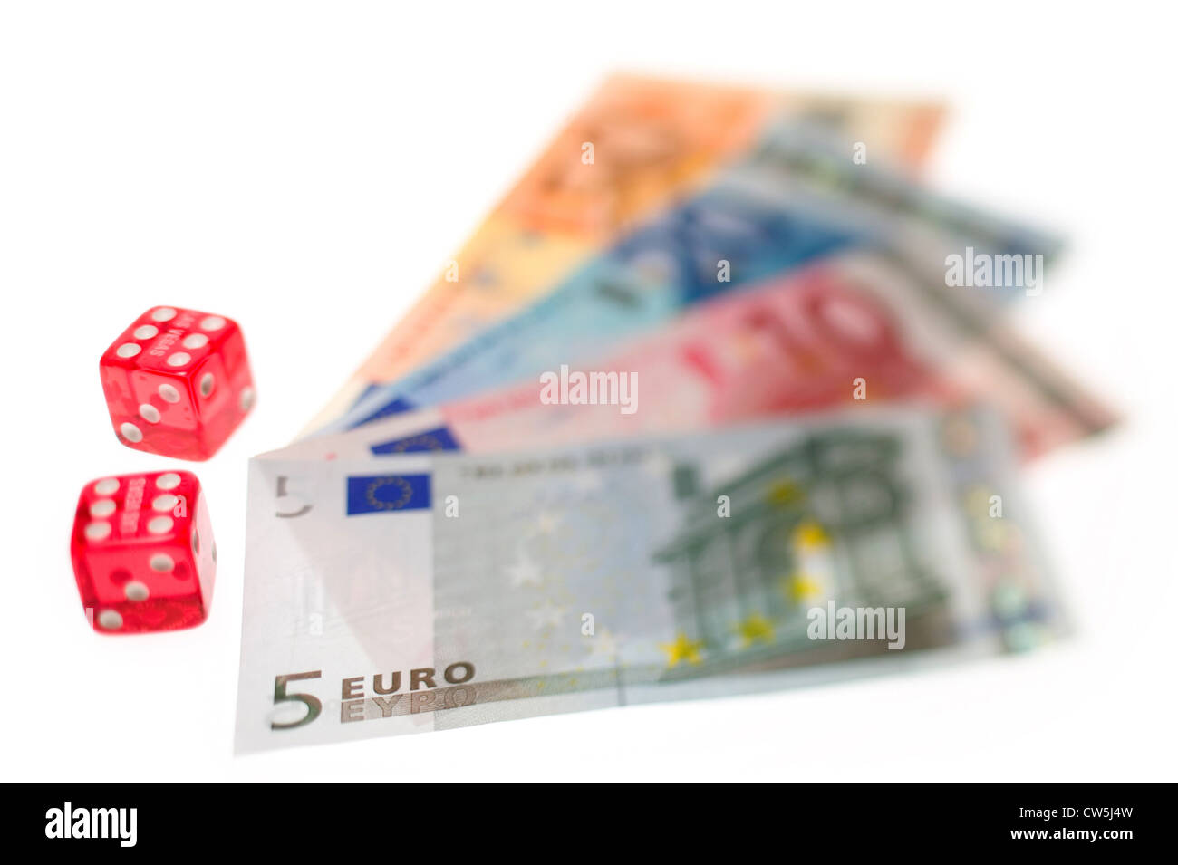 Euro banknotes as Cut - Stock Image