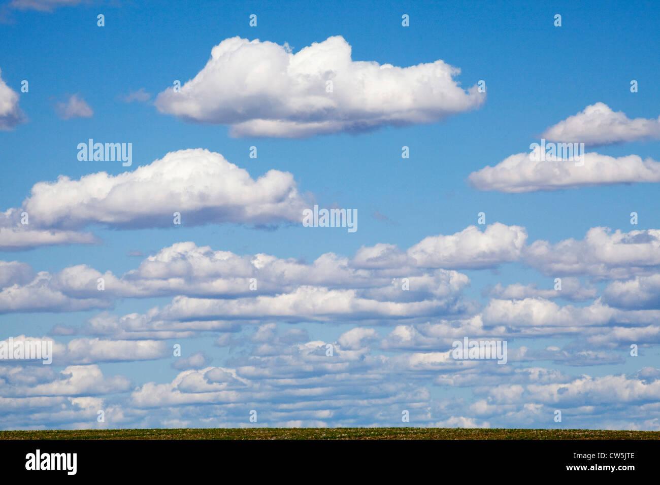 Cloudy Sky, Washington, USA Stock Photo