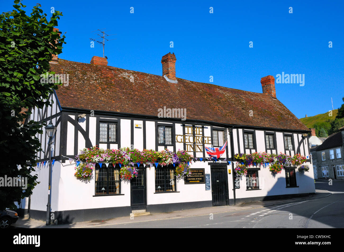 The George Inn, Mere, Wiltshire, England, UK - Stock Image